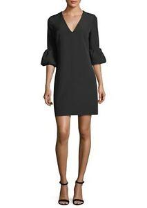 NEW-Milly-Italian-Cady-Mandy-Dress-in-Black-Size-12-D2214