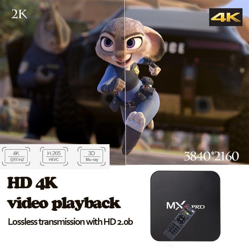 TV Box Android 7.1 Quad Core Smart 1080P HDMI WIFI KODI 17.6 MXQ Pro 4K 3D 64Bit 6