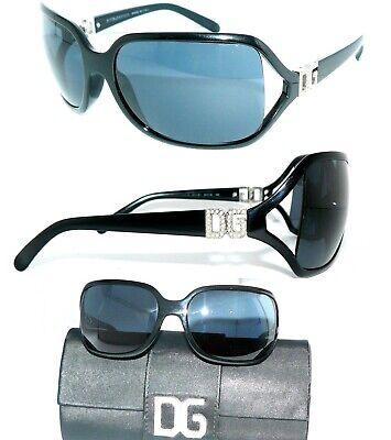 Motivata Dolce Gabbana Dg 6003-b Occhiali Da Sole Nero Blu Strass Donna Lusso Astuccio Occhiali-mostra Il Titolo Originale