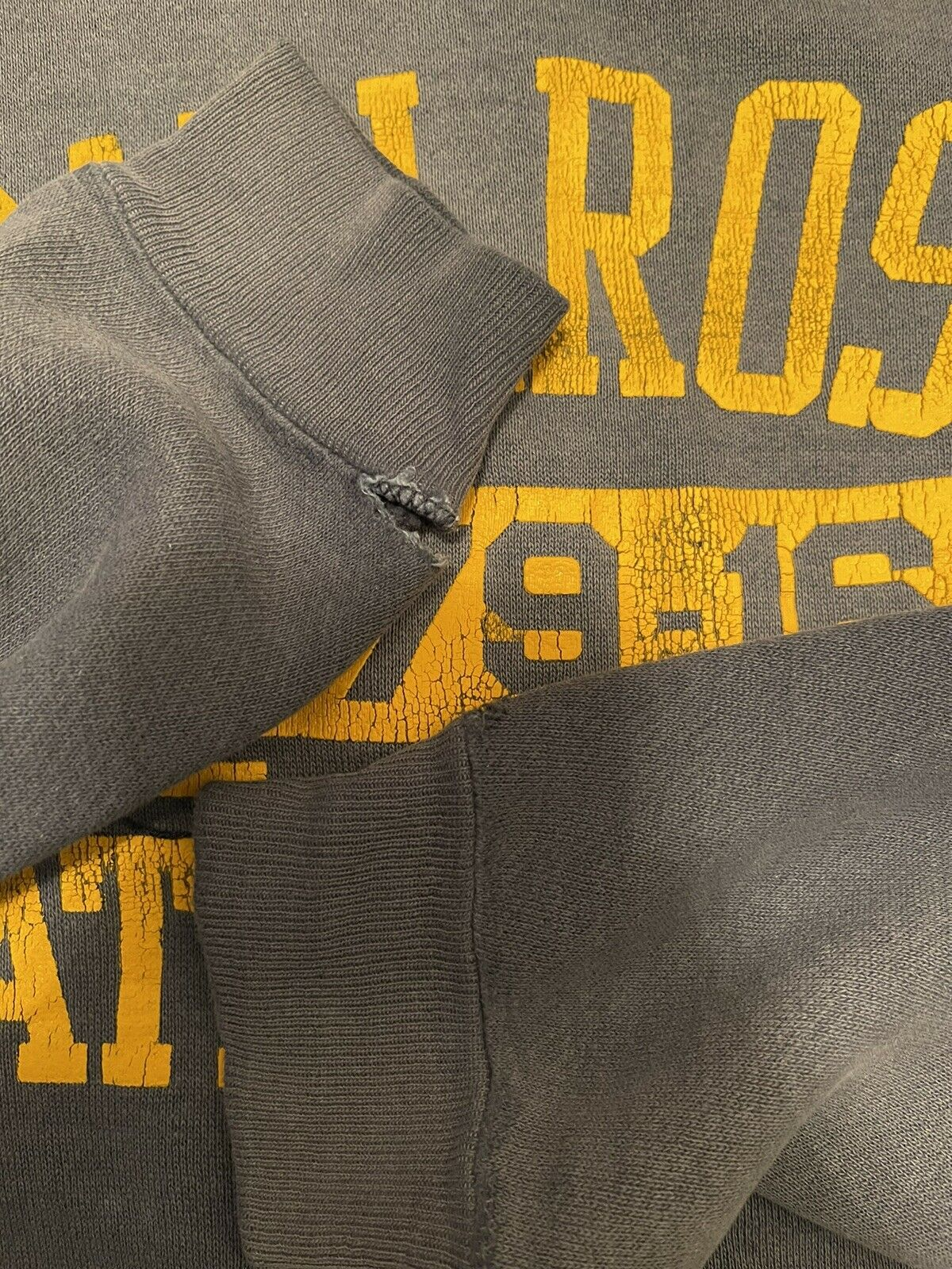 VTG 70s Sun Faded Russell Gold Tag M Hoodie Sweat… - image 10