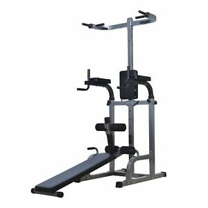 Power-Tower-Dip-Station-Ab-Sit-up-Bench-Pull-Push-Up-bar-Workout-Gym-equipment