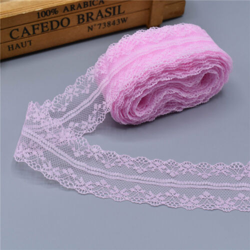 Pretty 10yards 3.5 cm Lace Ribbon lace embroidered trim trimmings for sewing DIY