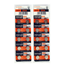 20pcs Maxell LR44 1.5V Alkaline Coin Cell Battery A76 303 357 L1154 AG13 SR44