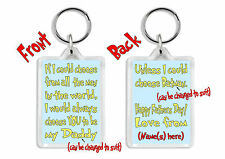 Personalised Father's Day/ Birthday Keyring /Bag Tag *Funny Gift for Dad, Daddy*