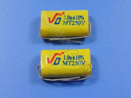 2pcs For JIEDENG 250V 1.0uF Crossover Polypropylene Non-Polarized Capacitor