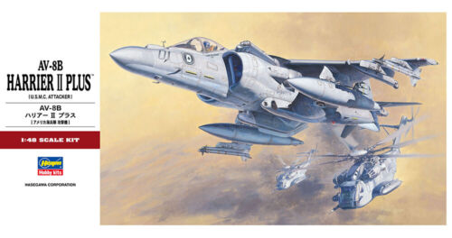 Hasegawa 07228 PT-28 1//48 Scale Model Aircraft Kit USMC AV-8B Harrier II Plus