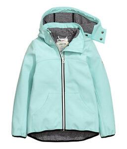 Details zu H&M Softshelljacke Funktionsjacke Gr.134 170 3 Farben mintschwarz NEU