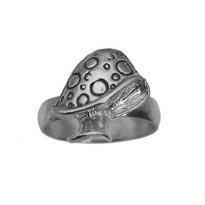 Mushroom Ring  sterling silver Magical Kingdom Fantasy Toadstool Jewelry Pick SZ