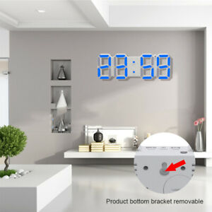 USB-Powered-3D-Digital-LED-Wall-Clock-Alarm-Clock-Snooze-12-24-Hour-Display