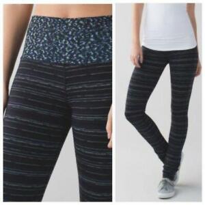 Lululemon-6-Skinny-Groove-II-HR-Leggings-Black-Stripe