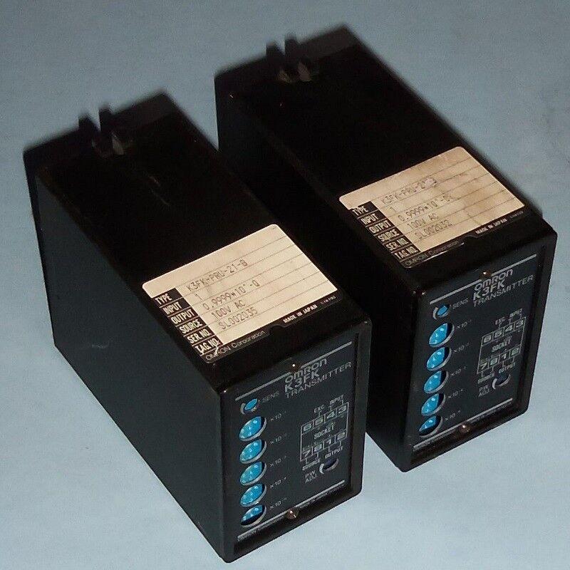 OMRON 100VAC TRANSMITTER K3FK-PRU-21-B LOT OF 2 PZF