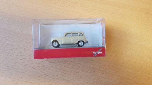 1//87 Renault R4 Neuf Herpa 020190-007 Beige