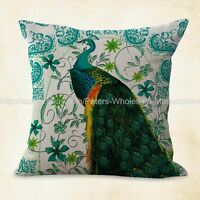 Us Seller, Vintage Peacock Cushion Cover Decorative Pillow Cases Covers