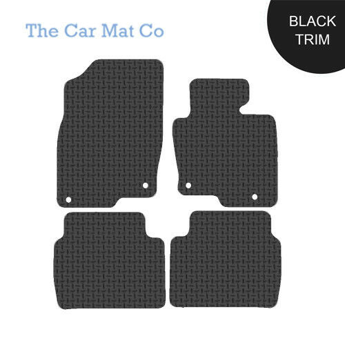 Mazda CX5 2017-Present Fully Tailored Black Rubber Car Mats With Black Binding