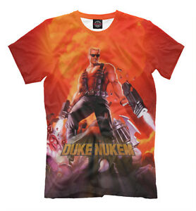 a98f2ae31 Duke Nukem tee - geek old school gamers t-shirt HD print large sizes ...