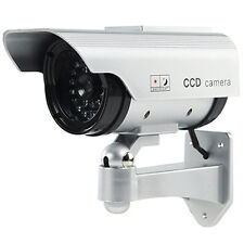 Outdoor Solar Dummy CCTV Security Camera - Flashing LED IP44 - Imitation Fake