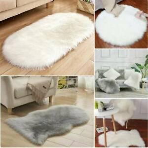 Au Fluffy Faux Fur Sheepskin Rug Floor