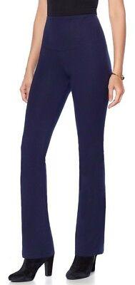 Yummie Tummie Jodi Boot-Cut Legging Blue Sz X-Large Cotton Spandex Blend 610465