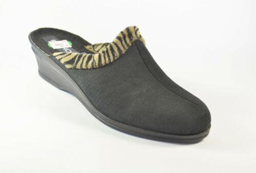 Rhode Damenschuhe Pantolette Schwarz Gr 37 Obermaterial  Microvelour R089//S