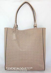 Image Is Loading 398 Bcbg Maxazria Laser Cut Out Leather Tote
