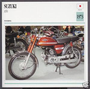 1973 Suzuki A50 A 50cc Japan Touring Bike Motorcycle Photo Spec