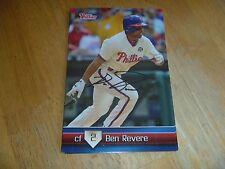 Ben Revere Signed/Auto Phillies Team Set Card