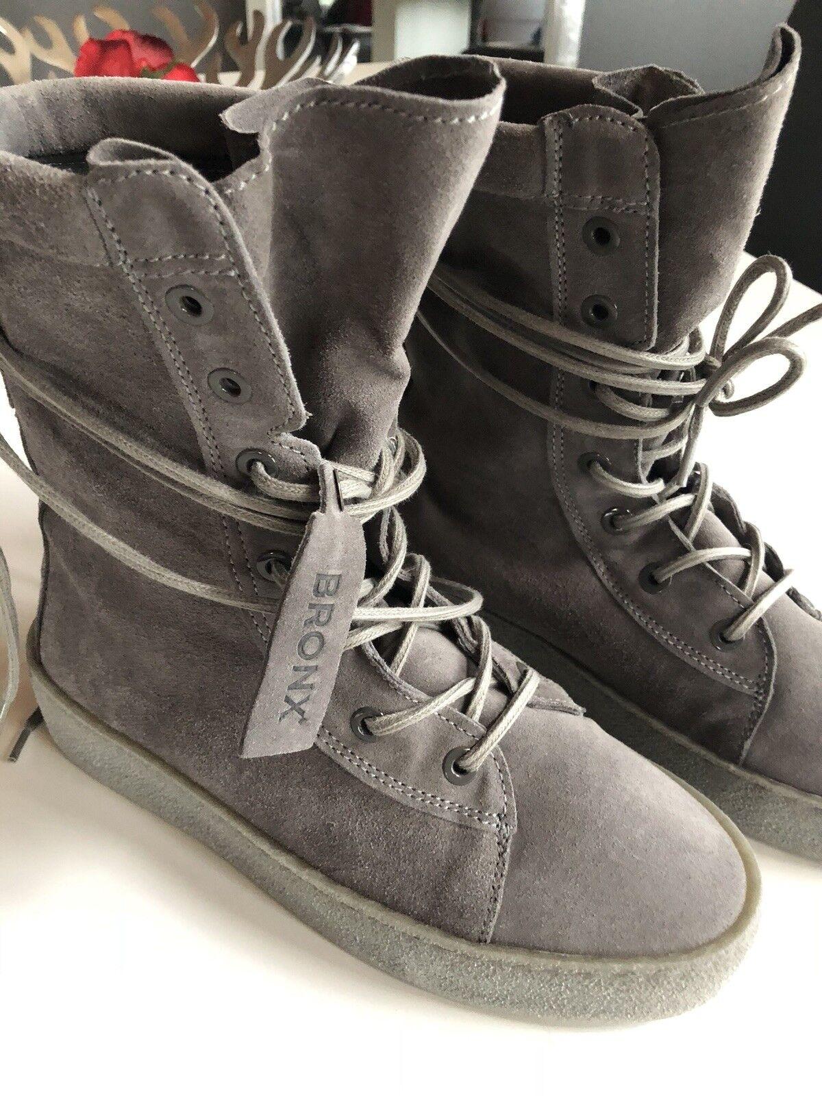 bronx neu stiefel Boots Größe 40 neu bronx grau a6f6b5