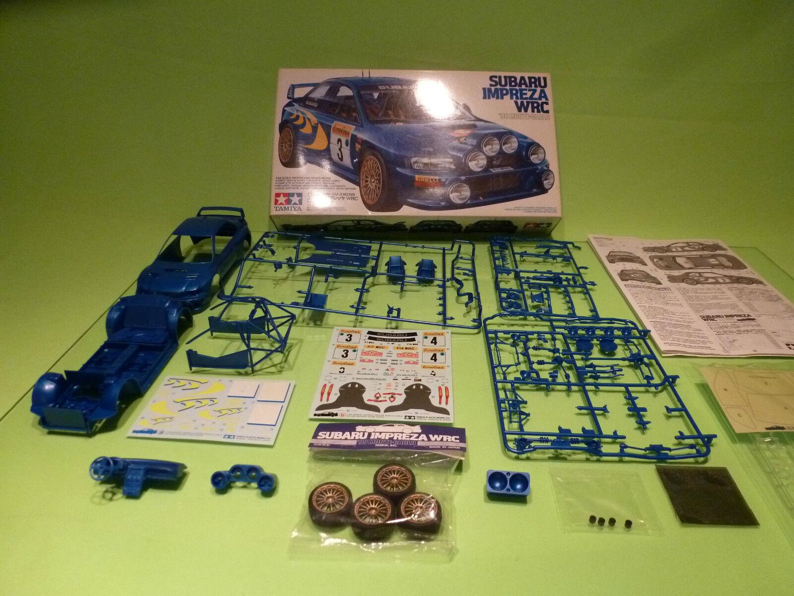 TAMIYA KIT 24199 SUBARU IMPREZA WRC MONTE CARLO 1998 - 1 24 - VG IN BOX