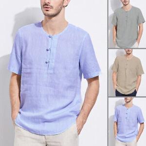 INCERUN Hommes Tee-shirt à manches courtes imprimé Cou v Chemises décontractées