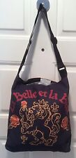 Beauty & The Beast La Belle et La Bete Crest Tote Black Disney Adjustable Strap