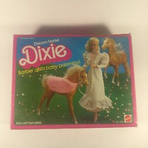 Barbie-Doll-039-s-Baby-Palomino-7073-Dream-House-Dixie-1983-Complete