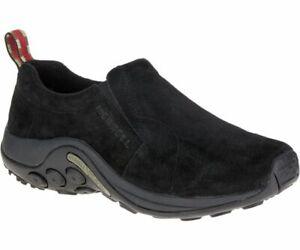 nuevo concepto 214e7 90abe Detalles de Merrell Jungla Moc Negro de Hombre sin Cordones Clásicos Cuero  Casual