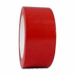 """2"""" x 108' Red Vinyl Adhesive Pinstriping Tape Lane Marking Car Decor Pin Strip"""