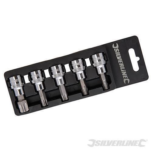 T40 T45 T47 T50 T60 TORX STAR Socket Bit Set 3//8 Drive Set Lifetime Guarantee