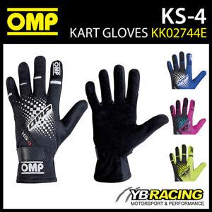 KK02744E OMP KS-4 KS4 KART GLOVES in 6 COLOURS UPDATED MODEL FOR KARTING