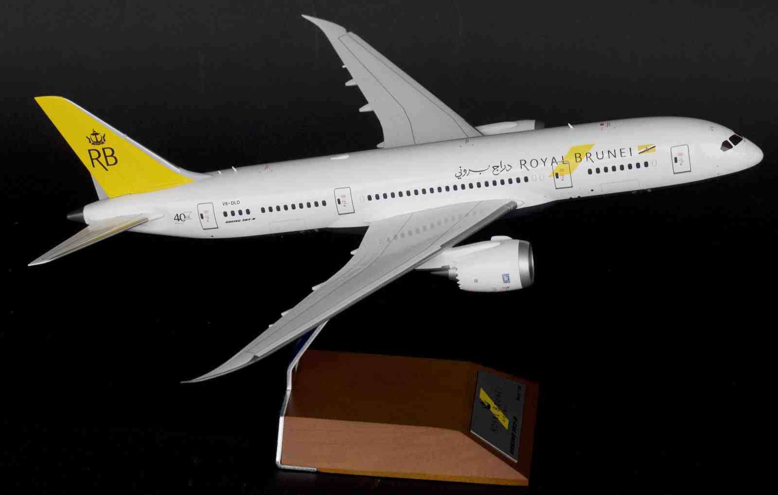 JC WINGS JC2442 1 200 ROYAL BRUNEI B787-8 V8-DLD WITH STAND