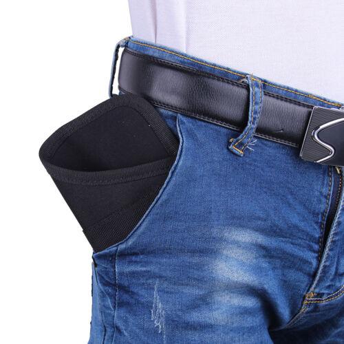 Pocket Concealment Gun Pistol Holster Pouch Handgun Bag Black