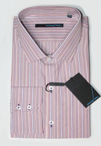 Multi Striped Spread Collar Cotton Button-Down Shirt Zachary Prell Men/'s XXL