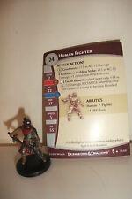 Dungeons & Dragons Miniatures HUMAN FIGHTER - Dungeons of Dread (Cod. D&D 56) Du