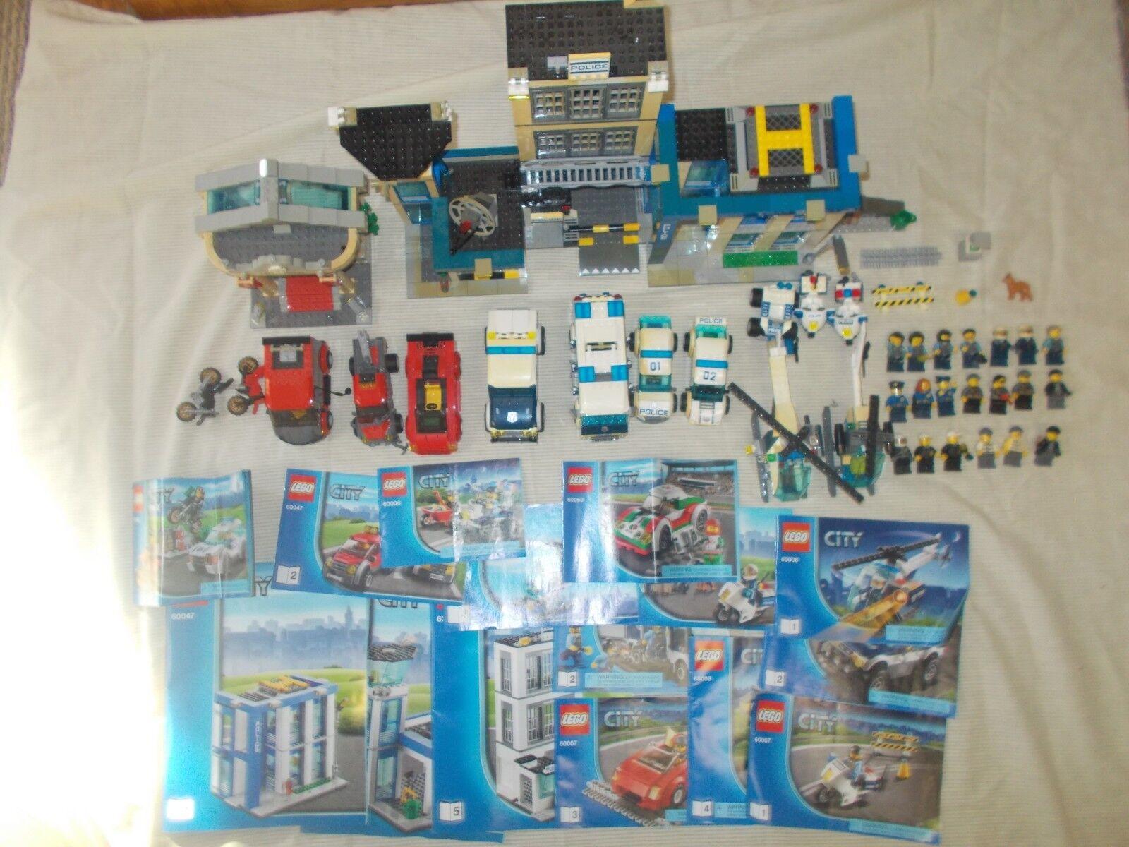 LEGO City  Police Station (60047) Lot - Minifigures, Vehicles, Station, Town  autorisation de vente de la marque