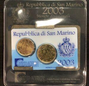 coffret San Marino 50 et 20 cents euros 2003