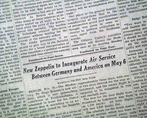 LZ-129-HINDENBURG-Airship-Zeppelin-Under-Construction-Announcement1936-Newspaper