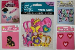SMALL-IRON-ON-EMBROIDERED-APPLIQUES-PATCHES-CHOICE
