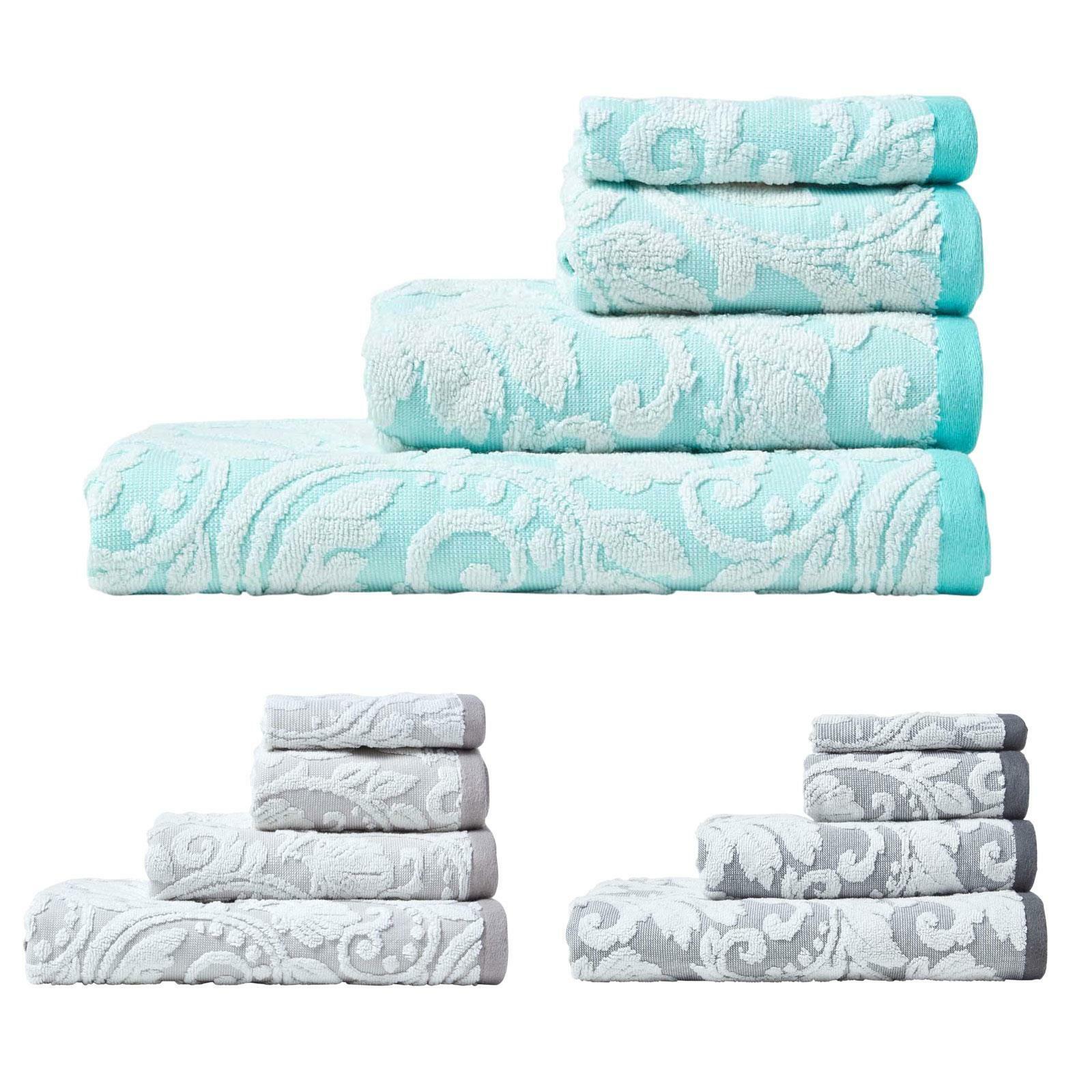 Turkish Cotton Damask Pattern Super Soft Fluffy & Absorbent Towel 600 GSM