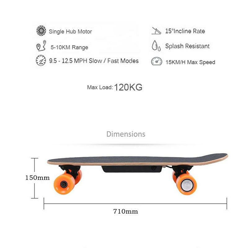 Four Four Four Wheel Electric Skateboard With Wireless Remote Controller E-Skateboard 600W d0dcb3