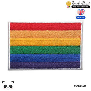LGBT-Pride-Flag-Embroidered-Iron-On-Sew-On-Patch-Badge-For-Clothes-etc
