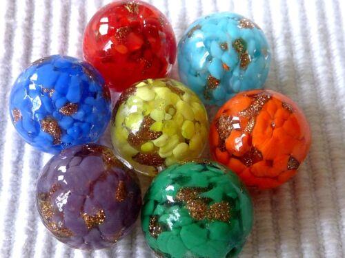 Gold arena vidrio Lampwork bola perla aproximadamente 14mm selección 2673