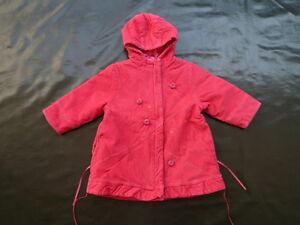 2-ans-manteau-velours-fines-cotes-rose-framboise-MARESE-TRES-BON-ETAT-fille