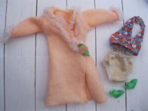 NEW BARBIE PINK 3 PCS SET LINGERIE GOWN PANTY BRA FASHIONISTAS FASHION CLOTHES