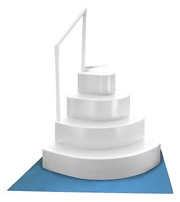 Above Ground Swimming Pool Wedding Cake Step Swim Deck